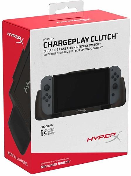 【玩樂小熊】Switch主機NS HyperX ChargePlay Clutch 專用行動充電殼 可分離 握把支架