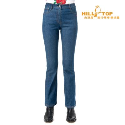 【hilltop山頂鳥】女款吸濕排汗彈性牛仔褲S07FE5深藍