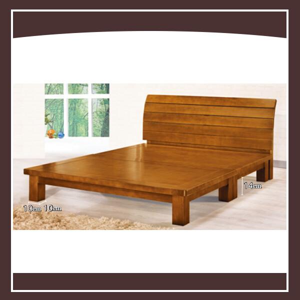 皇冠5尺楊木樟木色床架 21102531550