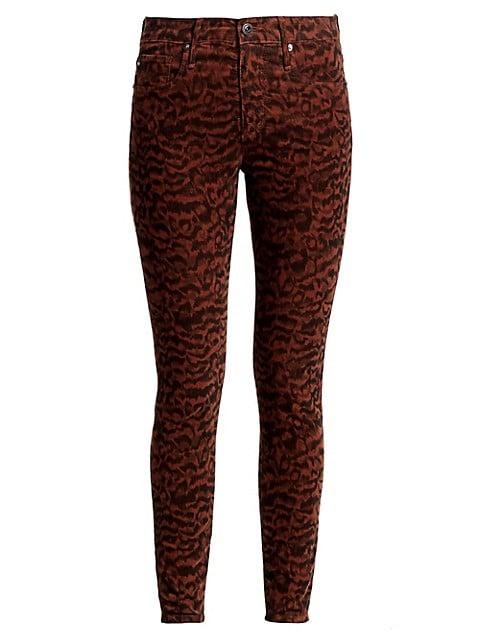 Farrah Print Corduroy Skinny Jeans