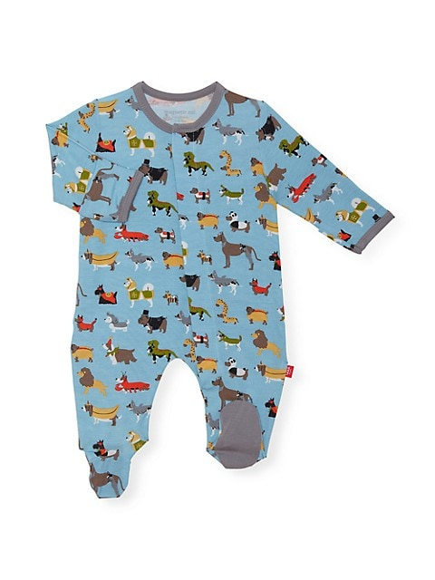 Baby Boy's In-Dog-Nito Modal Magnetic Footie