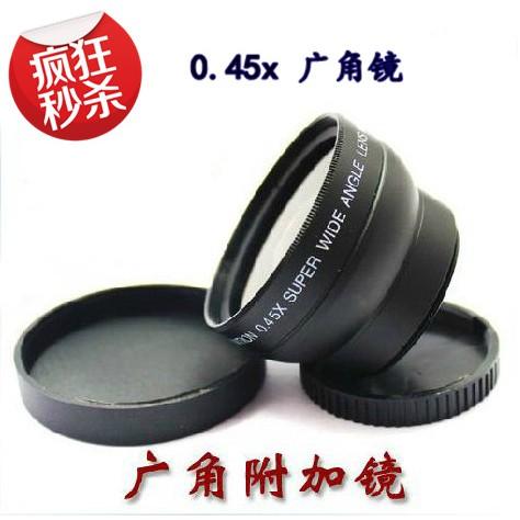 【熱銷特賣】46mm 0.45x倍 廣角附加鏡頭 帶微距鏡 G1 GF1 GF2 GF3 餅干