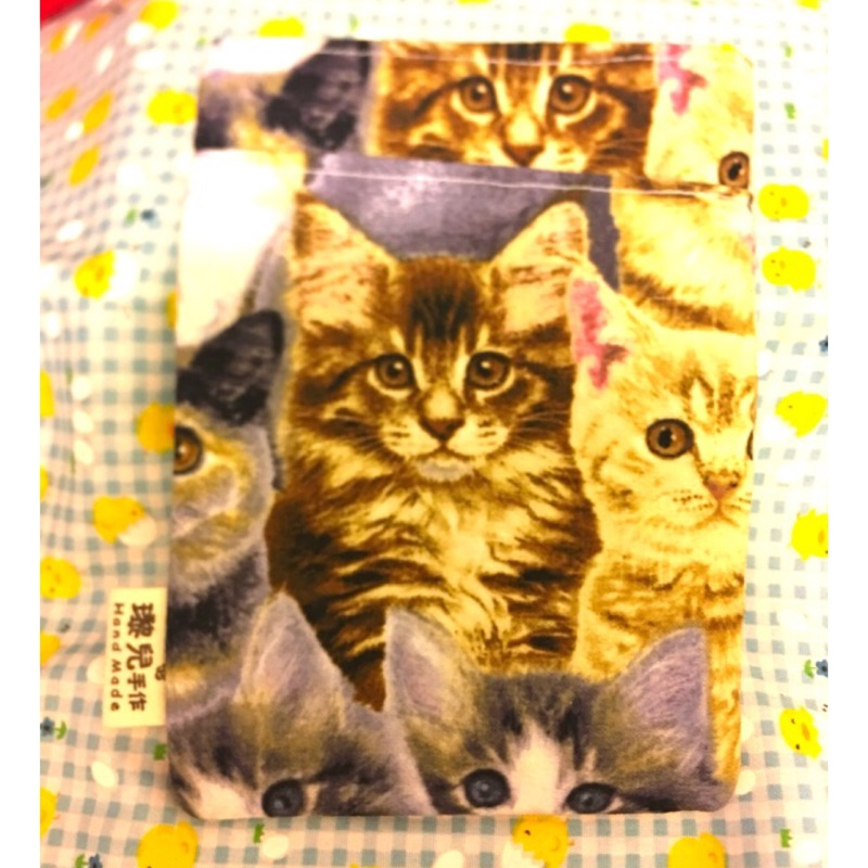 手作 純棉 寫實 可愛貓咪寫真照 護理師 護士 口袋筆袋 醫護人員 客製