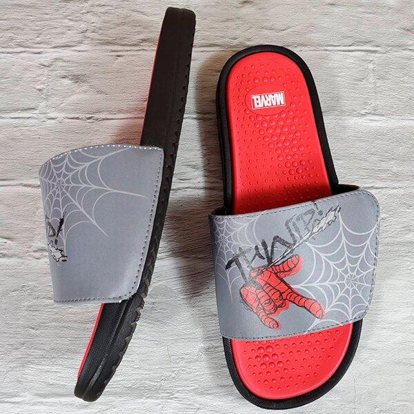【蕾寶】正版授權 MARVEL 蜘蛛人 招牌手勢 舒適拖鞋 灰色 26-30cm