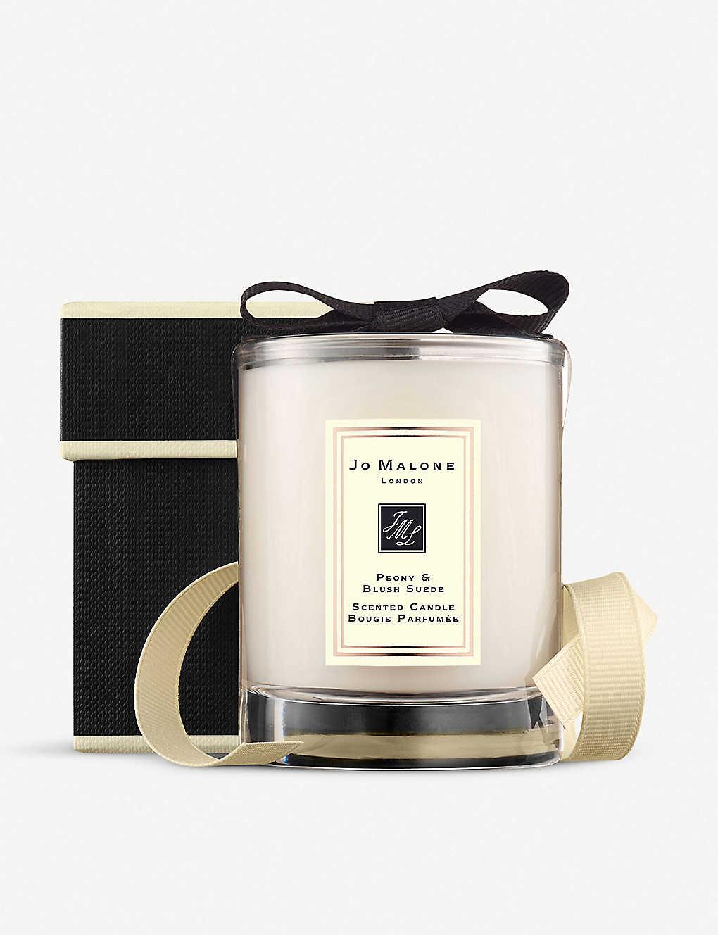 JoMalone 祖玛珑 牡丹与胭红麂绒旅行香氛蜡烛 - 60g