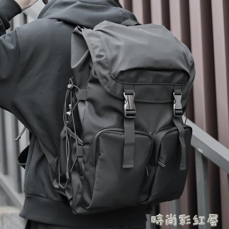 韓版大容量雙肩包男時尚潮流背包輕便休閒簡約學生書包旅行包袋女