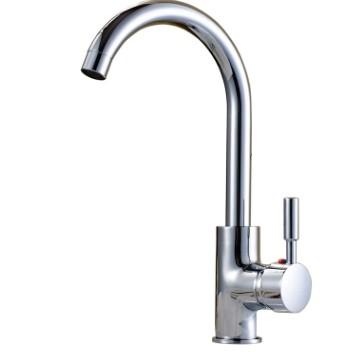 全銅體廚房冷熱水龍頭不銹鋼洗菜盆旋轉廚房水槽龍頭 家用水龍頭