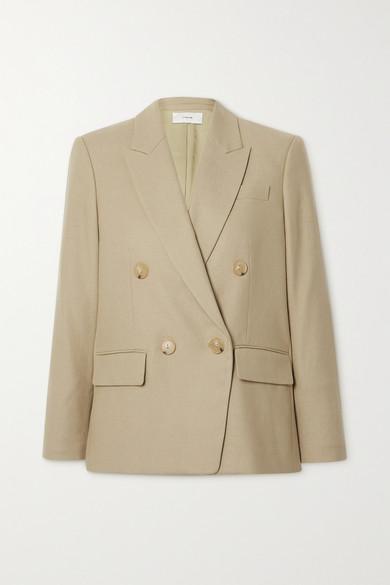 Vince - 双排扣法兰绒西装外套 - 浅褐色 - US8
