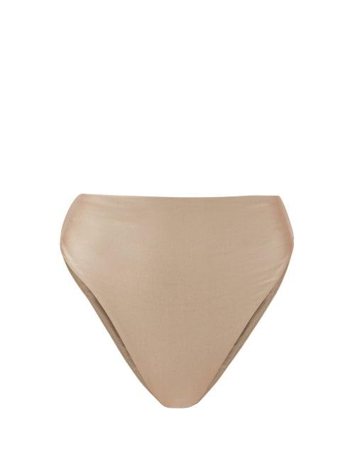 Jade Swim - Incline High-rise Bikini Briefs - Womens - Light Grey