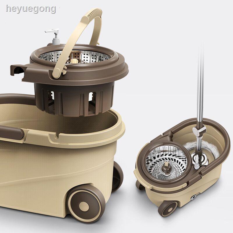 現貨旋轉拖把桿通用免手洗拖把家用一拖墩布桶拖地自動甩干懶人拖布凈