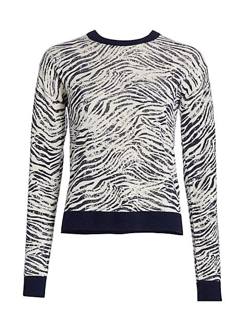 Zebra Crewneck Sweater