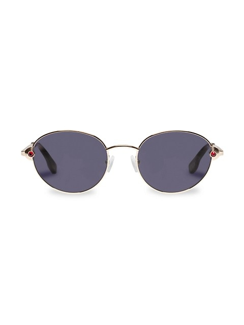 Vamp 53MM Round Sunglasses