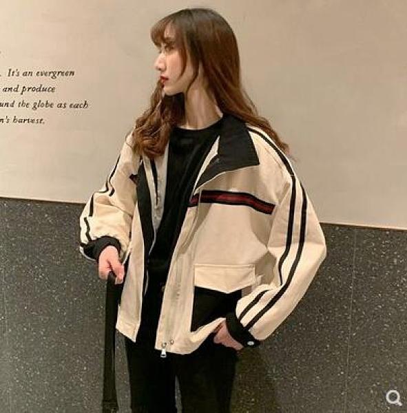 炸街外套女高級范ins春秋今年流行女裝工裝夾克寬鬆韓版鹽系上衣