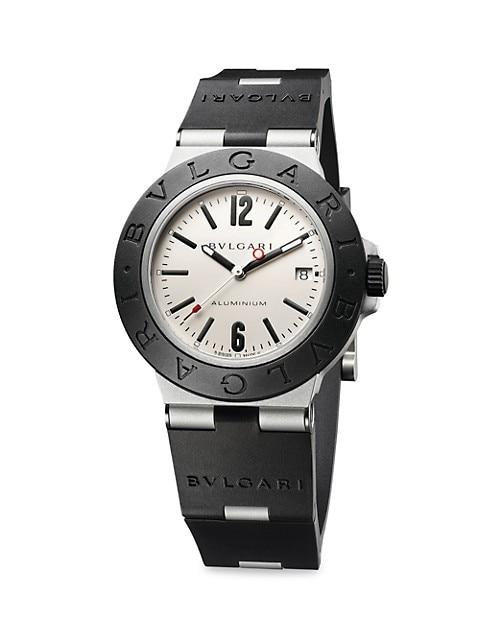 Aluminum, Titanium & Rubber Strap Watch