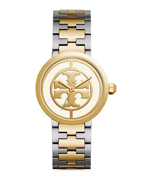 Reva Goldtone & Stainless Steel Bracelet Watch