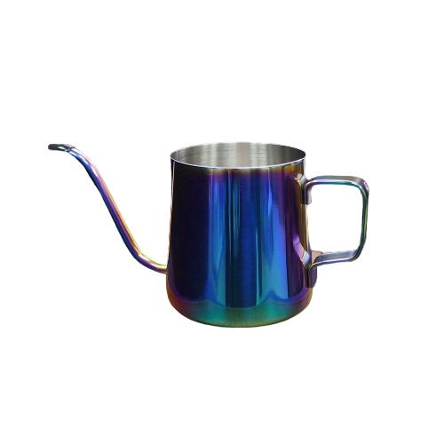 手沖咖啡細口壺(七彩電鍍壺面)「奢華酷炫」鈦色 (250ml)