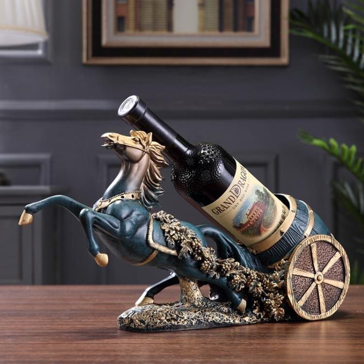 【快速出貨】創意客廳馬車紅酒架擺件電視酒柜家居裝飾品酒瓶收納架葡萄酒架 新年春節  送禮