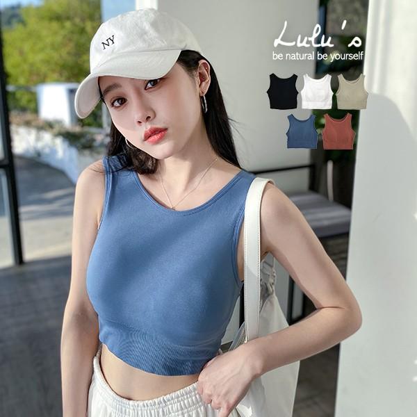 現貨-LULUS【A01200848】Y包邊羅紋縮口罩杯背心5色1126