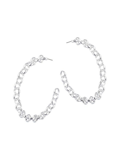 Viola Chain-Link Hoop Earrings