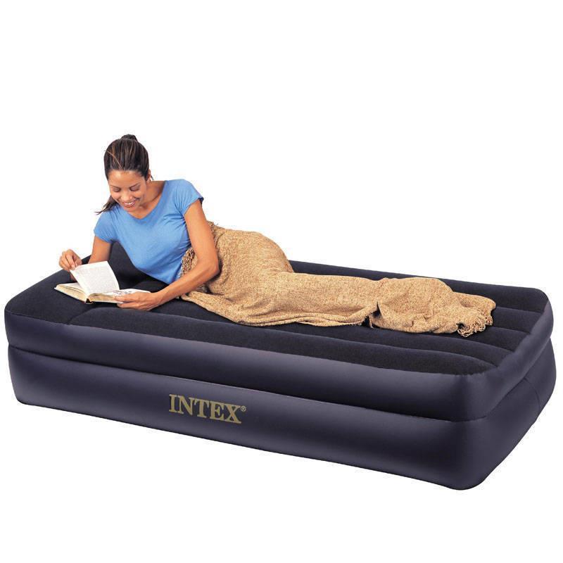 原裝正品INTEX豪華單人雙層充氣床墊氣墊床內置電泵沖氣床64122