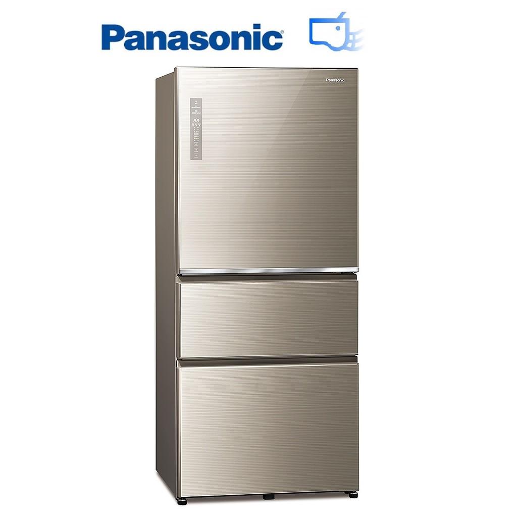 Panasonic 國際牌 610L 無邊框玻璃三門 變頻冰箱 翡翠金 NR-C611XGS-N【上位科技】