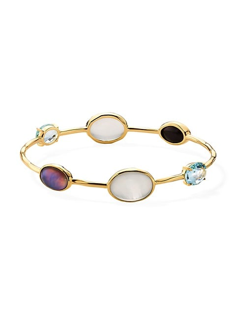 18K Rock Candy® & Mixed-Stone 6-Station Bangle Bracelet