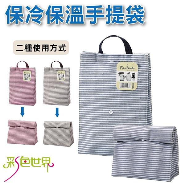 日本 保冷保溫袋 便當袋 野餐手提袋 多色 FLOW-627 彩色世界