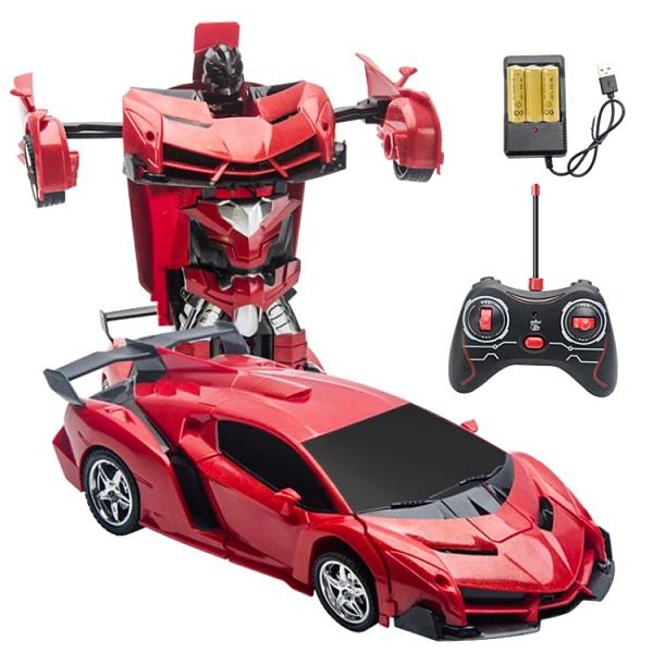 遙控車 兒童玩具感應遙控變形汽車男孩6歲金剛遙控車充電動賽車禮物【快速出貨八折搶購】