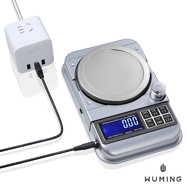 廚房 咖啡 電子秤 液晶螢幕 1000g/0.01g 迷你 料理 烘焙 藥材 實驗 精密 珠寶 『無名』 Q09114