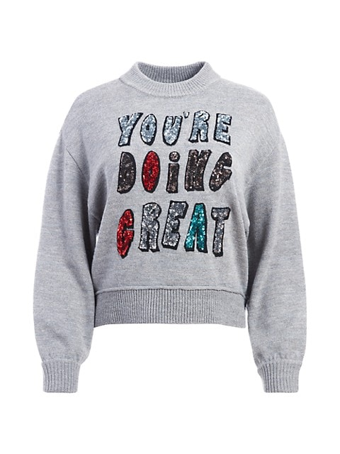 Denver Sequin Embroidered Sweater
