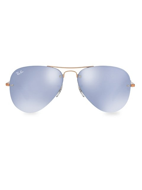 RB3449 59MM Iconic Semi-Rimless Aviator Sunglasses