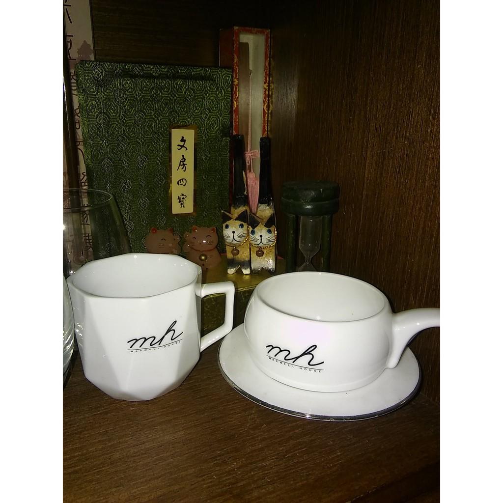 絕版摩卡雙白瓷咖啡杯 絕配造型 具收藏價值