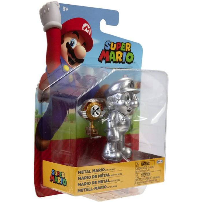 Jakks Super Mario 《 NINTENDO 任天堂 超級瑪利歐 》瑪利歐 W21 METAL MARIO