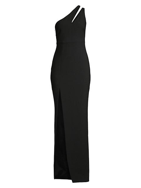 Roxy One-Shoulder Column Gown
