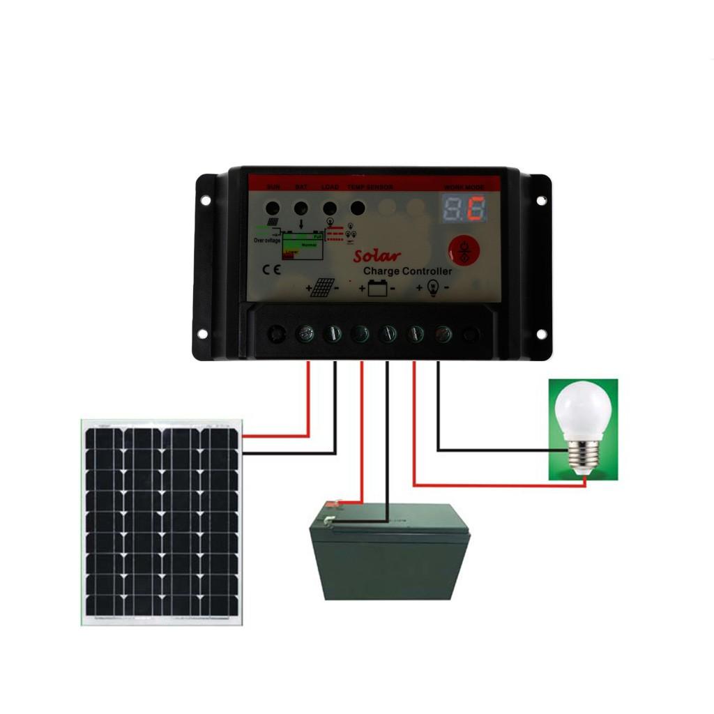 30A 20A 10A PWM太陽能控制器充電器