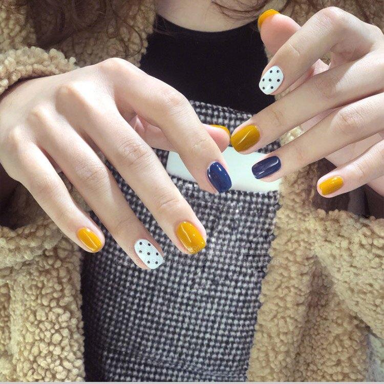指甲油 姜黃色甲油膠2019年新款美甲店專用流行色光療指甲油膠