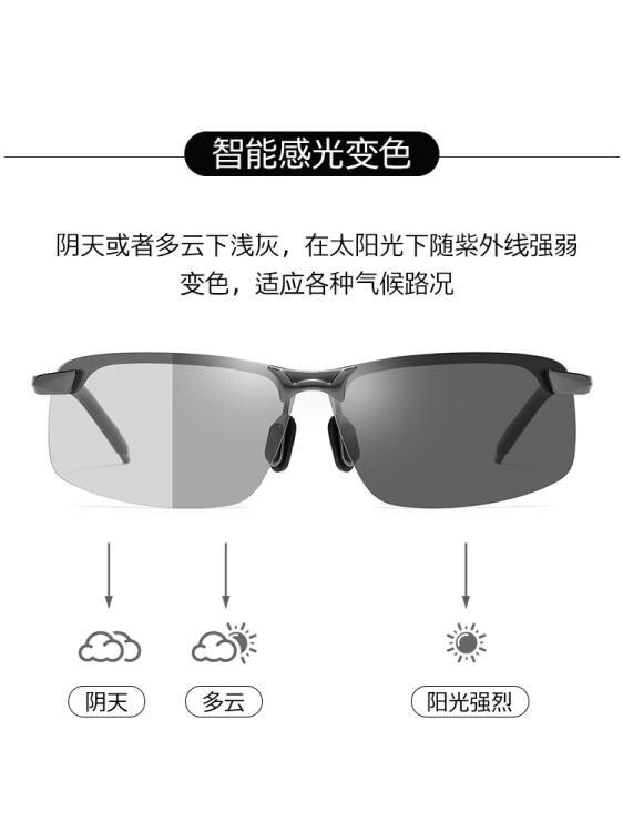 太陽鏡 太陽鏡司機墨鏡男開車專用眼鏡潮日夜兩用變色夜視駕駛鏡