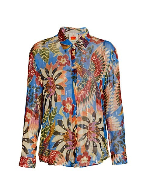 Toucan Button-Up Blouse