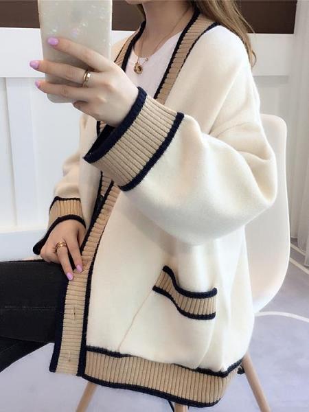 毛衣外套 針織衫開衫毛衣2021年新款女裝寬鬆外穿春百搭加厚上衣外套【快速出貨八折優惠】
