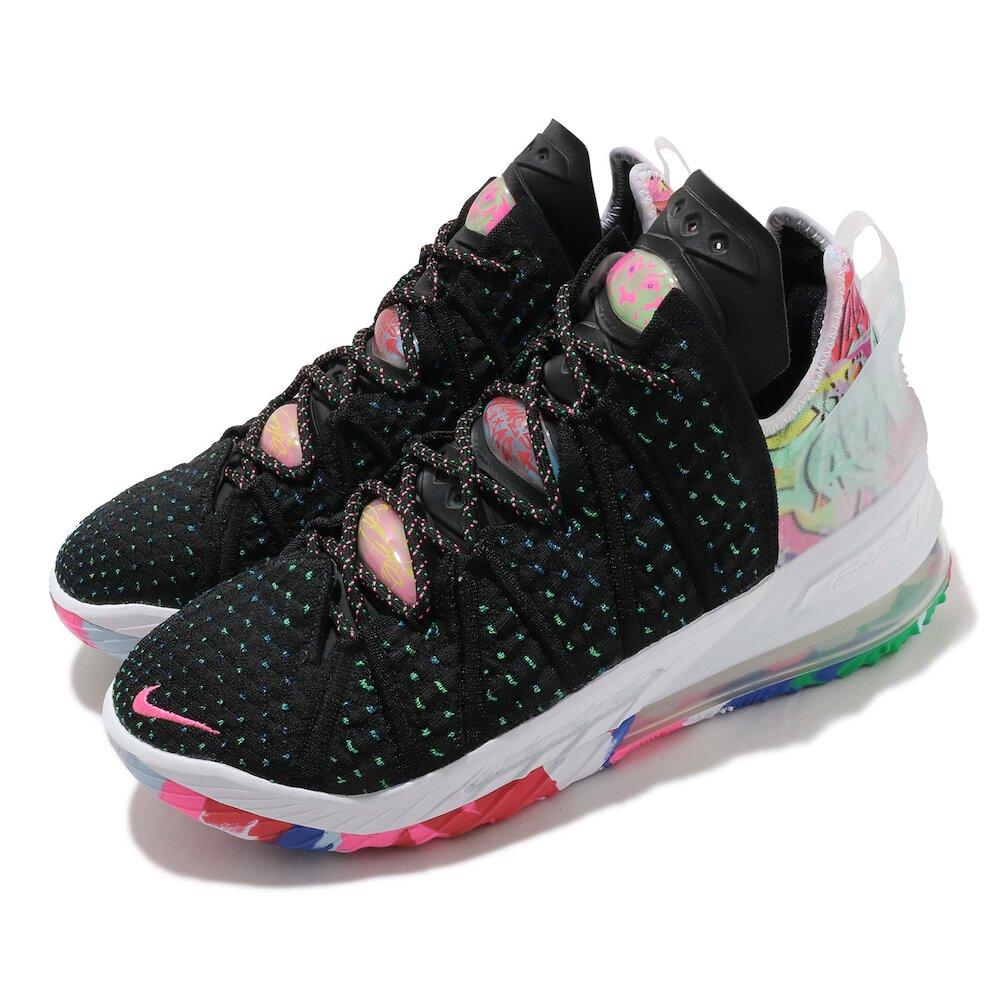 NIKE 籃球鞋 Lebron XVIII EP 運動 男鞋 明星款 避震 包覆 球鞋 XDR外底 黑 彩 [CQ9284-002]