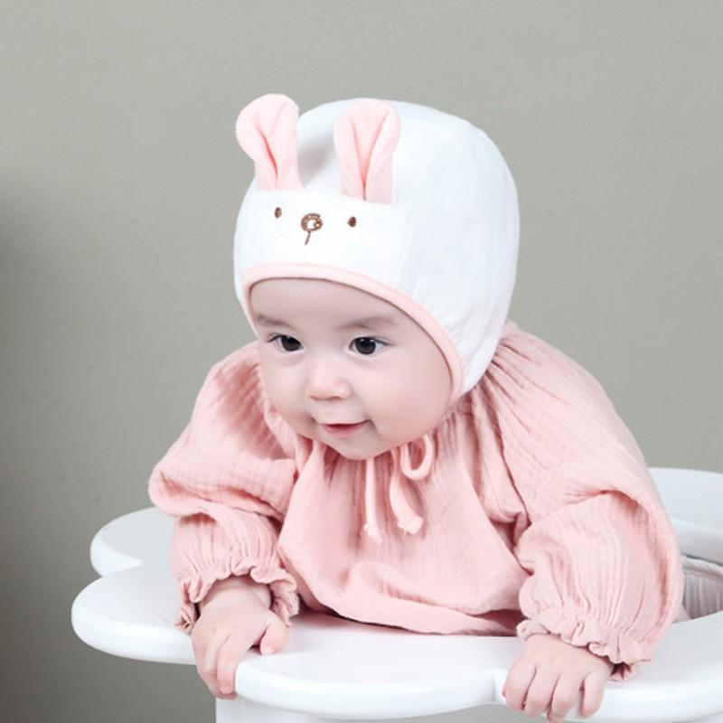 嬰幼兒可愛帽子 兔耳朵造型加絨新生兒帽 嬰兒秋冬毛線帽 韓版男女寶寶公主帽【IU貝嬰屋】