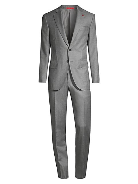 Royal Flannel Single-Breasted Wool Suit