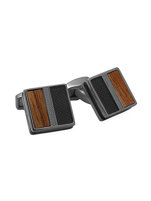 Enamel & Wood Cufflinks