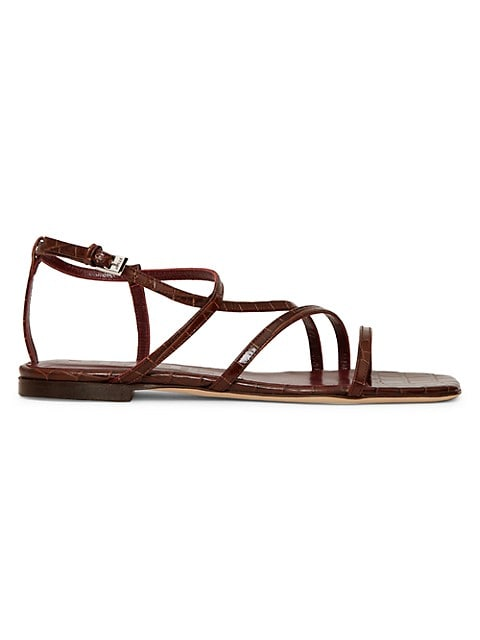 Gitane Croc-Embossed Leather Sandals