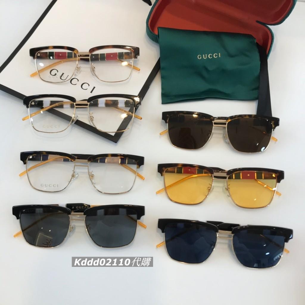 GUCCI古馳 李宇春肖戰同款GG0603S方形墨鏡 板材金屬鏡框男女時尚太陽眼鏡 古馳墨鏡 平光鏡 眾多明星款眼鏡