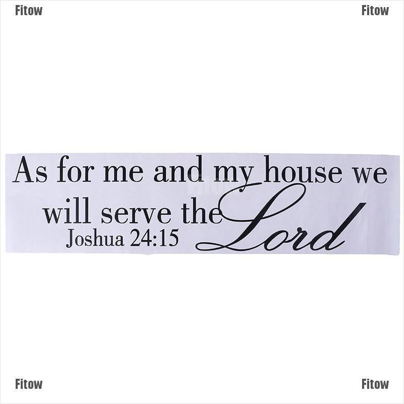 Ftmy Daily Joshua 24:15引用牆貼聖經經文耶和華貼花可移動DIY房間裝飾溫暖