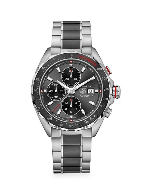 Formula 1 44MM Stainless Steel & Ceramic Automatic Chronograph Bracelet Watch