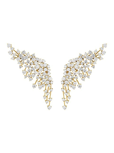 Luminus 18K Yellow Gold & Diamond Crawler Earrings