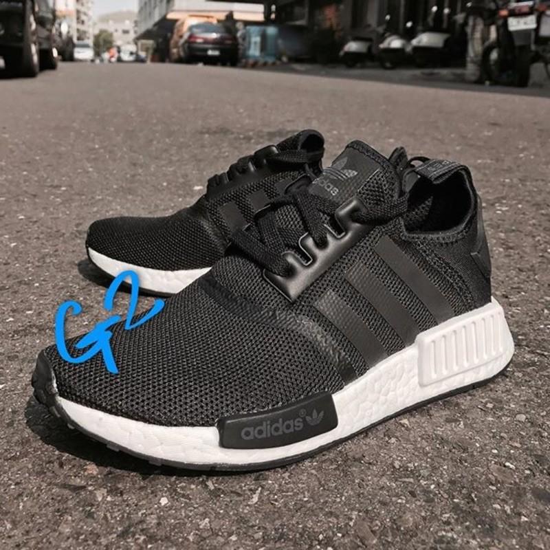 【正品】Adidas Originals NMD R1 J 黑白 S80206