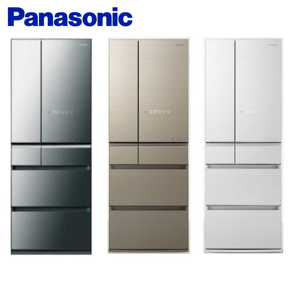 Panasonic 國際牌 ECONAVI 日製600L六門一級能變頻電冰箱 翡翠金NR-F606HX-N1 含基本安裝-